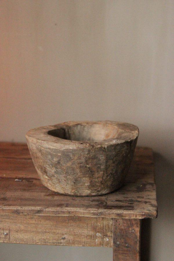 Oude houten bowl Z