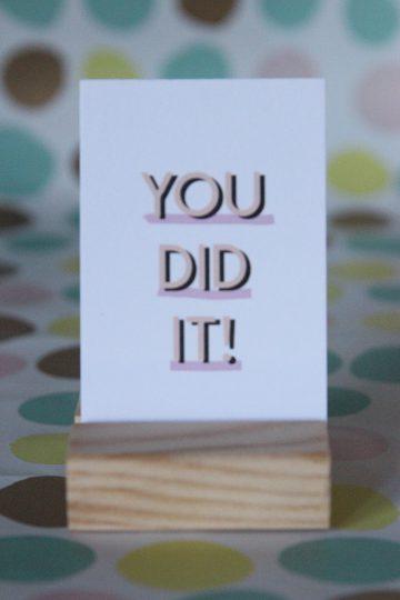 You did it! MINI